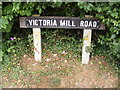 TM2863 : Victoria Mill Road sign by Adrian Cable