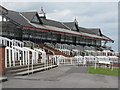 SE4422 : Grandstand at Pontefract Racecourse by Dave Pickersgill