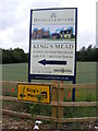 TM2763 : King's Mead New Homes advertisement sign at Millers Way by Adrian Cable