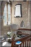 TL1589 : St Mary, Stilton - Font by John Salmon