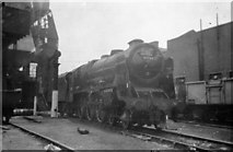 TQ2784 : Engine by coaling stage at Camden depot by John Firth