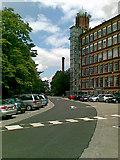 SJ8993 : The old Broadstone Mill, Reddish by Geoff Royle