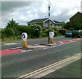 NZ2677 : Traffic island, Station Road, Cramlington by Alex McGregor