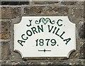 SJ9593 : Acorn Villa date stone by Gerald England