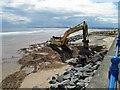 NZ5230 : Coastal protection works Seaton Carew by Steve  Fareham