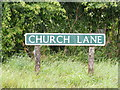 TG0726 : Church Lane sign by Adrian Cable