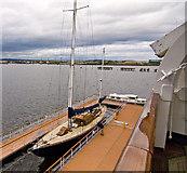 NT2677 : Royal Yacht Britannia by Alan Findlay