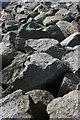 SX4853 : Rip rap, Mount Batten Breakwater by Adrian Platt