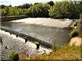 NZ1961 : River Derwent, Weir by David Dixon