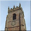 SO7993 : All Saints Church Tower at Claverley, Shropshire by Roger  Kidd
