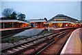 TQ4109 : Lines divide, Lewes Station by N Chadwick