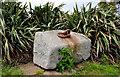 J5979 : Granite block, Donaghadee by Albert Bridge