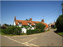 TM3656 : Cottages in Blaxhall by Chris Holifield