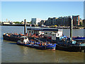 TQ3480 : Fuel barge, Wapping by Roger Jones