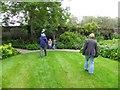 C2703 : Lawn, Oakfield park by Kenneth  Allen