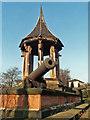 SK5640 : Nottingham Arboretum: pagoda and Sebastopol cannons, 1993 by John Sutton