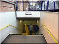 ST2225 : Stairway, Taunton Station, Somerset by Christine Matthews