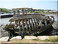 SX5052 : Rotting boat, Hooe Lake by Philip Halling