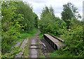 SJ9048 : Disused railway north of Bucknall, Stoke-on-Trent by Roger  Kidd
