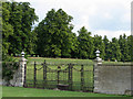 SP9680 : Drayton House: gates in the walled garden by John Sutton
