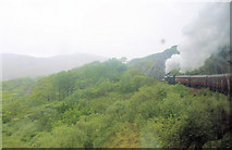 NM7682 : Railway cutting at Creag a' Chait by Stuart Logan