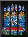 SP9280 : Grafton Underwood: St James - USAAF memorial window by John Sutton