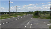 SJ5608 : B4380 at the junction of the B4390 near Wroxeter Roman City by John Fielding