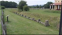 SJ5608 : Bases of the columns from the forum building at Viroconium (Wroxeter Roman City) by John Fielding