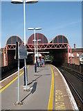 SU6400 : Portsmouth & Southsea Railway Station Platform by Roy Hughes