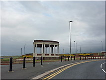 NZ3766 : Bandstand and public toilets at the southeast end of Sea Road, South Shields by Alexander P Kapp