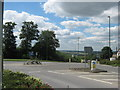 TQ5672 : Roundabout on Gore Road by David Anstiss