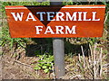 TM4167 : Watermill Farm sign by Adrian Cable