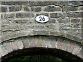 SJ9151 : Canal bridge (detail) at Stockton Brook, Staffordshire by Roger  Kidd