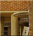 TQ3088 : Stage door sign, Hornsey Town Hall by Julian Osley