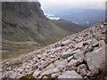 NN1672 : Ascending Carn Mor Dearg by Peter S