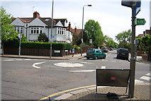 TQ2673 : Mini-roundabout, Heathfield Rd and Magdalen Rd by N Chadwick
