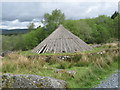 NX5576 : Reconstruction of an Iron Age roundhouse by Ann Cook