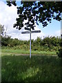 TG0227 : Roadsign on Wood Norton Road by Geographer