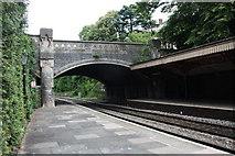 SO7845 : Avenue Road bridge, Great Malvern railway station by Bob Embleton