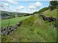 SE0125 : Hebden Royd Footpath 67, Mytholmroyd by Humphrey Bolton