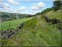 SE0125 : Hebden Royd Footpath 67, Mytholmroyd by Humphrey Bolton