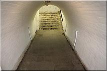 SO7845 : Underpass, Great Malvern railway station by Bob Embleton
