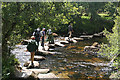 SX6773 : Dartmoor Forest: crossing in use by Martin Bodman