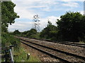ST5390 : Railway line near the Wye Bridge by Gareth James