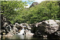 SD2296 : River Duddon in Wallowbarrow Gorge by Rob Noble