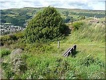 SE0125 : Seat and steps, Stake Lane, Mytholmroyd by Humphrey Bolton