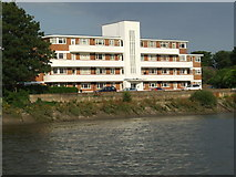 TQ1977 : Riverside flats at Chiswick by Malc McDonald