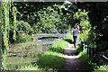 TL3707 : Jogging by the New River, Broxbourne, Hertfordshire by Christine Matthews