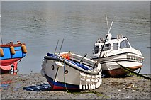 SW5130 : Marazion : St Michael's Mount Boats by Lewis Clarke