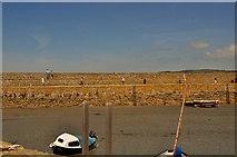 SW5130 : Marazion : St Michael's Mount Breakwater by Lewis Clarke